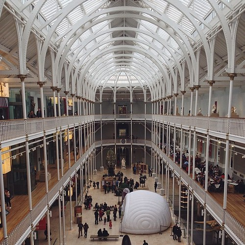 You should go to the National Museum of Scotland. Because it's beautiful, and kid-friendly, and free. And it's in Scotland. #edinburgh #scotland #nationalmuseumofscotland #sistersintheuk