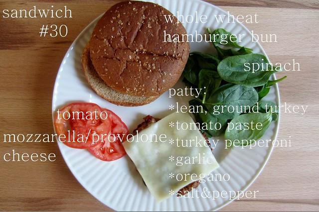 52 sandwiches #30: Rachel Ray's meatza pizza burger