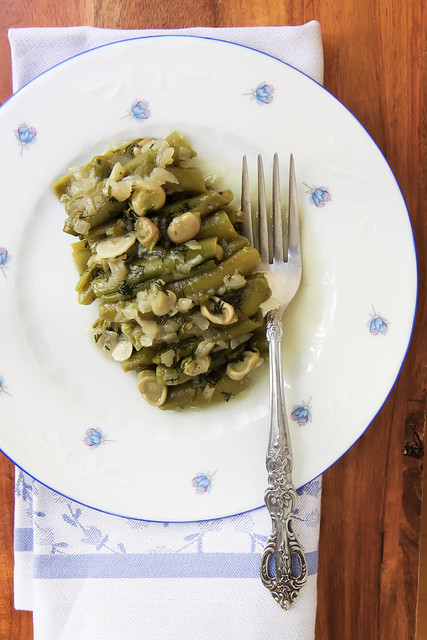 Fresh Fava Beans Braised in Olive Oil by Olga Irez of Delicious Istanbul