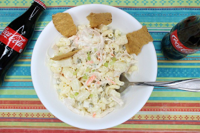 Chicken Macaroni Salad #StaterSnacks