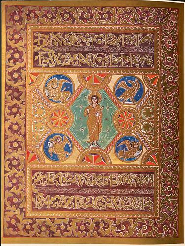 011-Incipit con figura de Cristo-Evangeliar  Codex Aureus - BSB Clm 14000-© Bayerische Staatsbibliothek