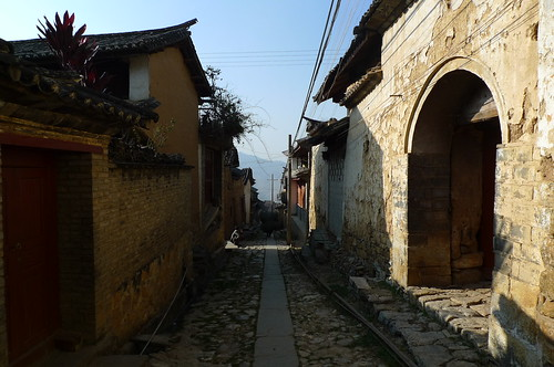 Main Street - Old Town - Lushi, Yunnan, China