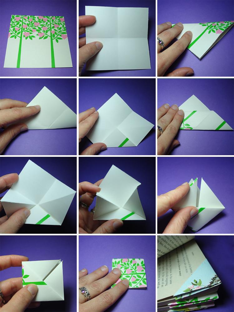 Easy Origami Bookmark