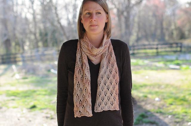spring seashell scarf