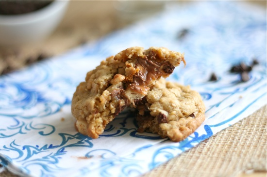 Snickers Stuffed Loaded Peanut Butter Oatmeal Cookies Final 3