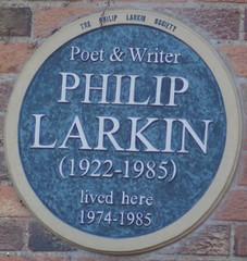 Photo of Philip Larkin blue plaque