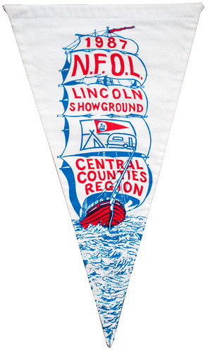 camping club pennant, lincoln showground 1987 by maraid