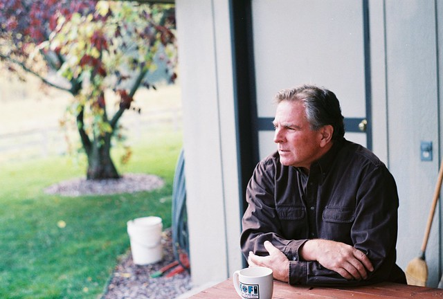 Dad, morning coffee in montana (1)