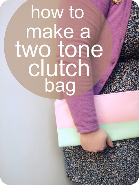 How to Make a Two Tone Colour Block Clutch Bag - A Thrifty Mrs