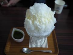 Japanese Shaved Ice Dessert - Green Tea Milk