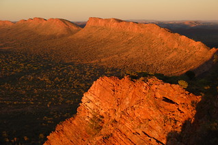 View from Mt Undoolya at sunset