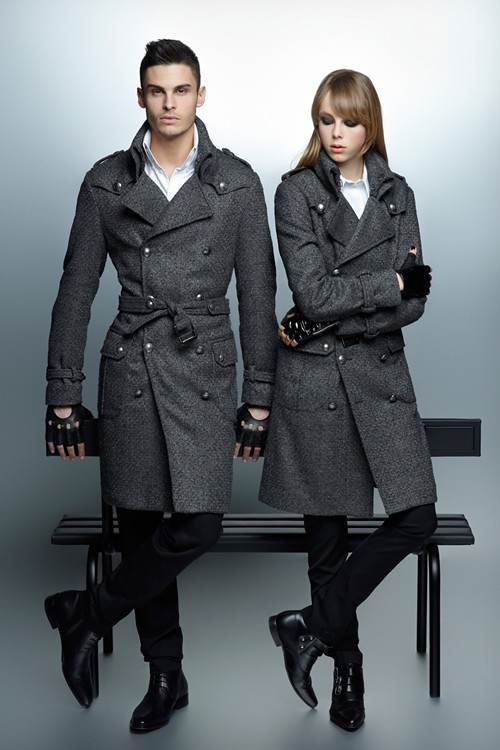 Karl Lagerfeld F/W 12 Campaign — Baptiste Giabiconi and Edie Campbell by Karl Lagerfeld