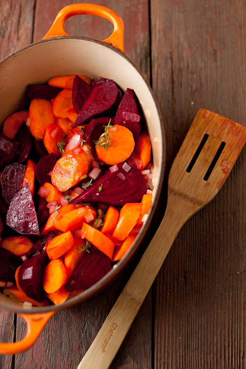 Beet Mushrooms Stew 4