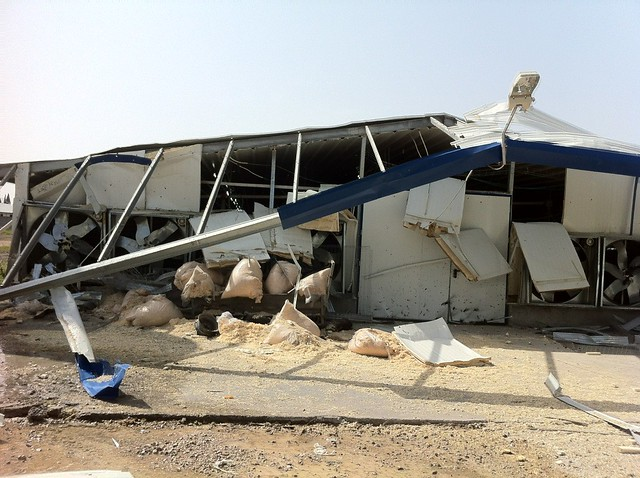 Farm Building Ruined by Direct Gaza Rocket Hit
