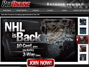 Bet Online Hockey Bonuses