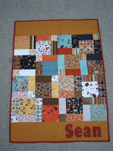 Baby Boy Sean Quilt 2 by gnomemade quilts