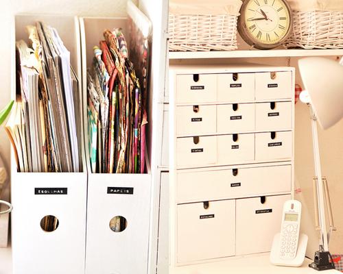 Ikea Storage in Devas Craft Room