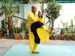 Mon, 12/03/2012 - 16:11 - Shifu Shi Yan Du (Kanishka Sharma) is the Official Buddhist Name (Darma Name) given by Shaolin Temple under the Guidance of Abbot Shi Yongxin, is a Shaolin Warrior from Shaolin Temple, China. He is the First Indian  Shaolin WarriorTo be Trained at Shaolin Temple Under the Guidance of Shifu Shi Heng Jun who introduced him to legendary Grand Master Suxi and his kungfu Brother Shifu Shi Deyang and currently is head of Shaolin India. Under Shifu Shi Heng Jun Guidance Shifu kanishka got trained in Shaolin jiben gong ShibaShi, Shaolin Tai Tzu Chang quan, Shaolin Wu bu Chuan,Shaolin Qi Xing Chua, Shaolin Xiao Hong Chuan, Shaolin Luohan Shi Ba shou, Shaolin Luohan Duanda, Shaolin Luohan chuan, Shaolin Wuxing Bafa (5 animal 8 movement), Shaolin Rumen chuan, Shaolin Kung Chuan, Shaolin Yin Shou Gun, Shaolin 9 Section whip Chain, Shaolin Broadsword (Dao), Shaolin Jian( straight sword),Shaolin Fun Mo Gun, Shaolin XinYi Quan , Shaolin Ba Duan jin and Shaolin yi jin jing Qi Gong. Shifu Kanishka also studied Shaolin San Sa liu Duanda( 36 short fighting combination of Shaolin kungfu) and Shaolin 36 Yin Chin-Na( locking system) In the year 2005 Shifu Shi Hengjun Travelled to France to spread the knowledge of Shaolin Chan Wu. Since then Shifu kanishka became disciple of Legendary Grand Master Shi Suyi (Liang Yiquan) who Deputed his Disciple Shifu Shi Yanfang who trained him in Shaolin Mehiua Chuan, Shaolin Pao Chua, Shaolin Hu chuan( Tiger fist), Shaolin Eagle Fist, Shaolin Tanglang Quan, Shaolin Kan jia chuan, Shaolin Yangjia Shi San Qiang( 13 Spear), Shaolin Moon Spade, Tongbei Chuan, Traditional Combat like Shaolin Tang fang ba, Hubpuba and introduced him to highest level of Shaolin Fighting called Xin Yi Ba. Shifu Shi Yanfang also trained Shifu kanishka intensly in Shaolin Sanshou( Free Fighting) specially in Shao Jiao( wrestling) and Shuai Fa( Takedowns) In the year 2008 Shifu Kanishka got the honor to train with Da Shifu Shi Yanzi ( a famous monk who h