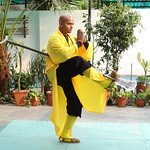 Shifu Shi Yan Du (Kanishka Sharma) is the Official Buddhist Name (Darma Name) given by Shaolin Temple under the Guidance of Abbot Shi Yongxin, is a Shaolin Warrior from Shaolin Temple, China. He is the First Indian  Shaolin WarriorTo be Trained at Shaolin Temple Under the Guidance of Shifu Shi Heng Jun who introduced him to legendary Grand Master Suxi and his kungfu Brother Shifu Shi Deyang and currently is head of Shaolin India. Under Shifu Shi Heng Jun Guidance Shifu kanishka got trained in Shaolin jiben gong ShibaShi, Shaolin Tai Tzu Chang quan, Shaolin Wu bu Chuan,Shaolin Qi Xing Chua, Shaolin Xiao Hong Chuan, Shaolin Luohan Shi Ba shou, Shaolin Luohan Duanda, Shaolin Luohan chuan, Shaolin Wuxing Bafa (5 animal 8 movement), Shaolin Rumen chuan, Shaolin Kung Chuan, Shaolin Yin Shou Gun, Shaolin 9 Section whip Chain, Shaolin Broadsword (Dao), Shaolin Jian( straight sword),Shaolin Fun Mo Gun, Shaolin XinYi Quan , Shaolin Ba Duan jin and Shaolin yi jin jing Qi Gong. Shifu Kanishka also studied Shaolin San Sa liu Duanda( 36 short fighting combination of Shaolin kungfu) and Shaolin 36 Yin Chin-Na( locking system) In the year 2005 Shifu Shi Hengjun Travelled to France to spread the knowledge of Shaolin Chan Wu. Since then Shifu kanishka became disciple of Legendary Grand Master Shi Suyi (Liang Yiquan) who Deputed his Disciple Shifu Shi Yanfang who trained him in Shaolin Mehiua Chuan, Shaolin Pao Chua, Shaolin Hu chuan( Tiger fist), Shaolin Eagle Fist, Shaolin Tanglang Quan, Shaolin Kan jia chuan, Shaolin Yangjia Shi San Qiang( 13 Spear), Shaolin Moon Spade, Tongbei Chuan, Traditional Combat like Shaolin Tang fang ba, Hubpuba and introduced him to highest level of Shaolin Fighting called Xin Yi Ba. Shifu Shi Yanfang also trained Shifu kanishka intensly in Shaolin Sanshou( Free Fighting) specially in Shao Jiao( wrestling) and Shuai Fa( Takedowns) In the year 2008 Shifu Kanishka got the honor to train with Da Shifu Shi Yanzi ( a famous monk who has spent 15 years in Shaolin Temple and was known as the Iron bull and has achieved the highest level of shaolin skill called Xin Yi Ba.) Under the guidance of Da Shifu Shi Yanzi Shifu Kanishka Studied Xiao hong Quan a version which included Xin Yi Ba move called Pi Tui Xie Xing which is one of the most powerful move for Combat. Once mastered this move alone can counter 1000 movements or kicks and punches. Shifu Kanishka during the year 2006 under the Guidance of Grand master Wang studied the Southern Shaolin 18 Luohan System which was very Secretly Taught at that time and was made famous by lengendary Fighter called Hongxi Guan of Southern Shaolin Temple Shaolin Kung Fu India www.shaolinindia.com