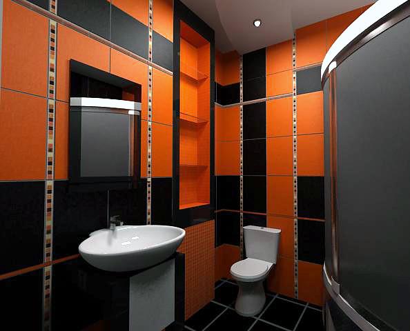 Colle carrelage 100m2 nanterre le tampon creteil - Salle de bain noir et rose ...