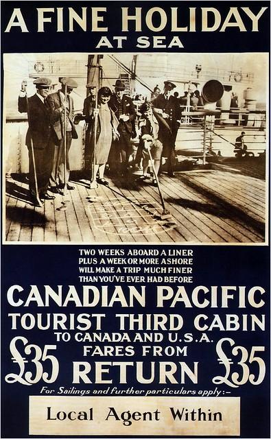 A fine holiday at sea. 1930