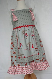 Little Red Riding Hood apron dress