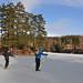 Spring skating at lake Langen