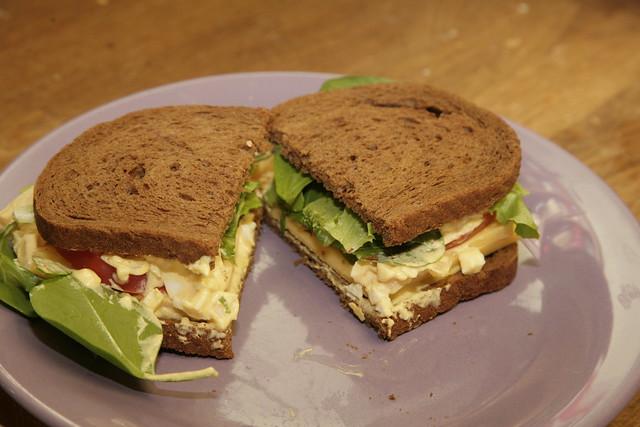 Sriracha egg salad sandwich.