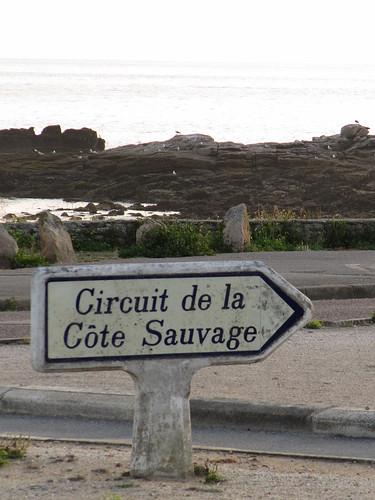 Poteau Michelin - Circuit de la Cote Sauvage - Quiberon, Morbihan (56) Bretagne, France