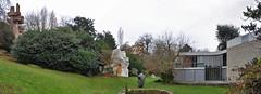 maison andré bloc, meudon, paris with bloc's sculptures-habitacles 2 & 3.