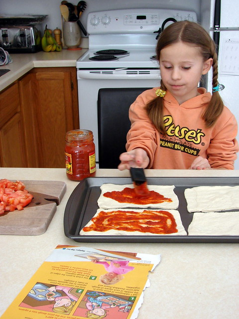 Making Pocket Pizzas!