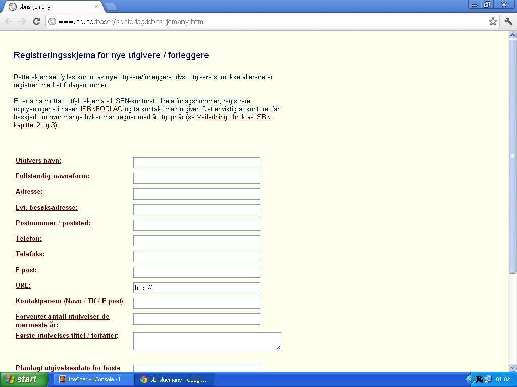 forlagsregistrering