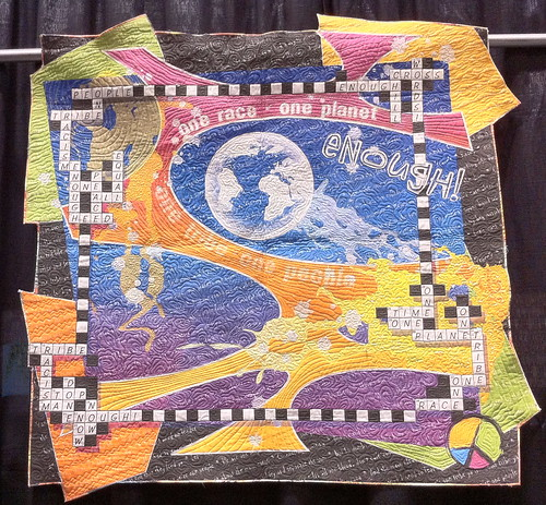 Enough Cross Words~ Quilt by Debra Gabel