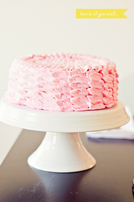Ruffle cake for John