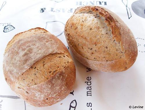 Driegranenbrood met zaadjes en zuurdesem (+ droge gist)