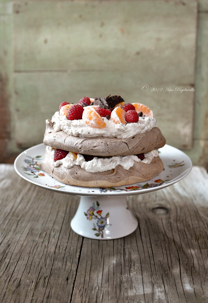 Chocolate Pavlova with Chestnut cream
