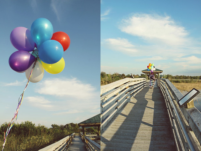 balloon shoot 11 diptych