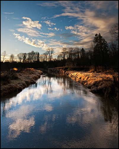 sunset sky reflection britishcolumbia mapleridge kanakacreek transcanadatrail kanakacreekregionalpark