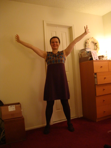 argyle concept dress is done, hurrah!