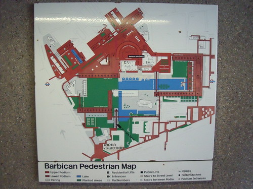 Original Barbican pedestrian map