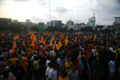 Anti-coup demonstration in the Maldives