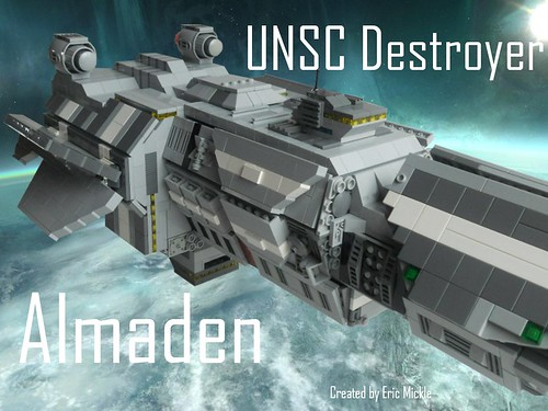 Eric Mickle's UNSC Destroyer on flickr