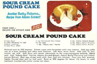 Classic Adams Sour Cream Cake