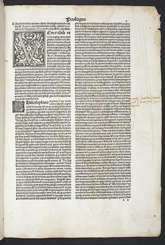 Woodcut initials in Aegidius (Columna) Romanus: In Aristotelis analytica posteriora commentum