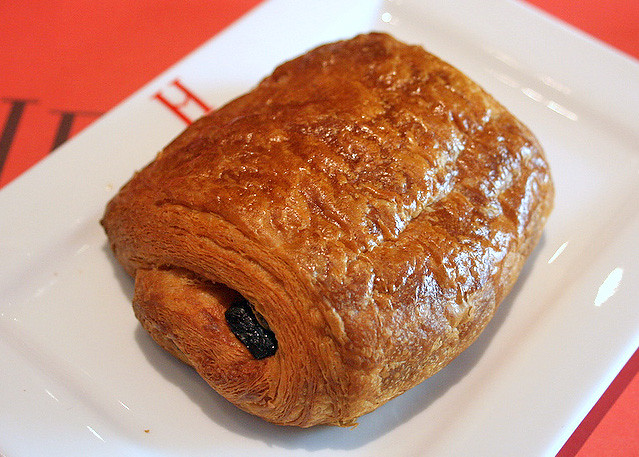 The famous chocolate croissant