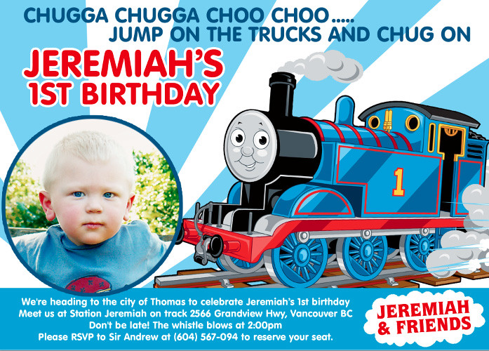 100 train birthday invitation template printable cookie thomas train the tank pronofoot35fo Gallery