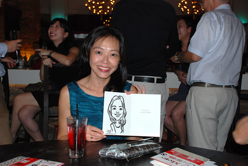 caricature live sketching for DVB Christmas party - 12