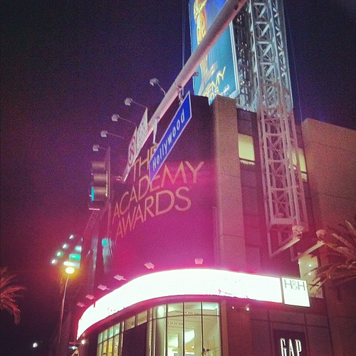 Los Angeles preps for The Academy Awards. We got a close up view! #oscars
