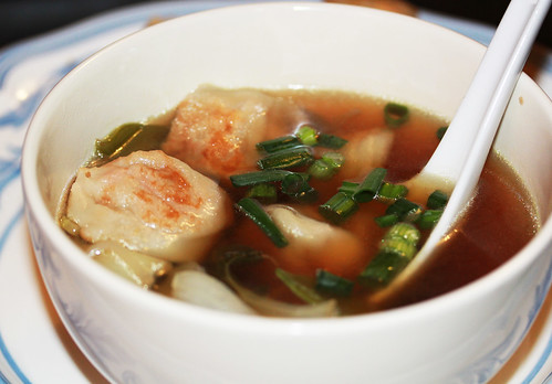 Ginger Soy broth with Dumplings