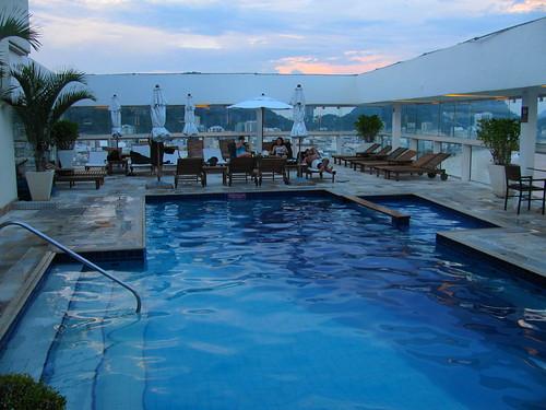 Piscina en la terraza del Hotel Río Othon Palace